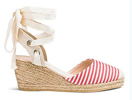 striped wedge shoes from Simply Be