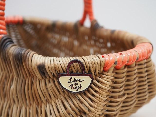 Vintage Pin Club Live To Thrift basket pin