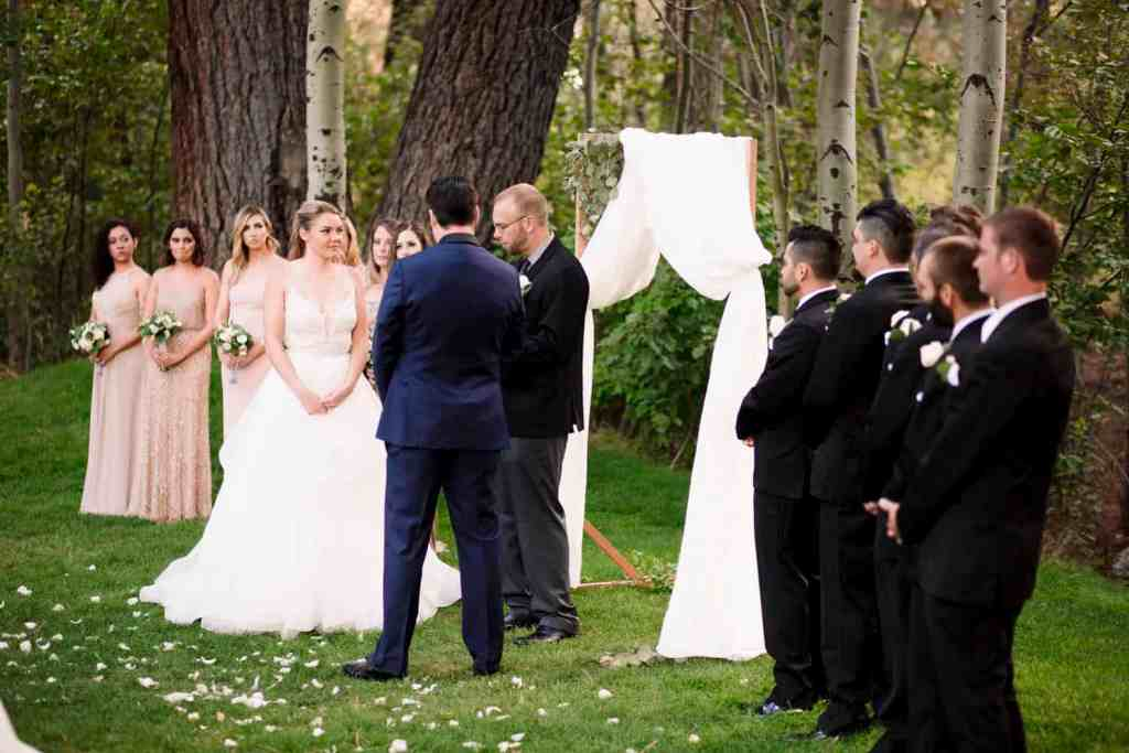 bride and groom exchange wedding vows