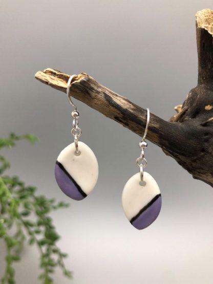 Dangle porcelain earrings