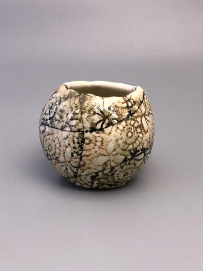 Handmade Stoneware Textured Pinch Pot