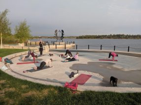 Yellowknife Yoga Teacher Training 108 Sun Salutations Somba Ke Park