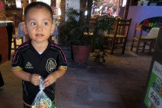 Mini Chicharito volunteers with us!