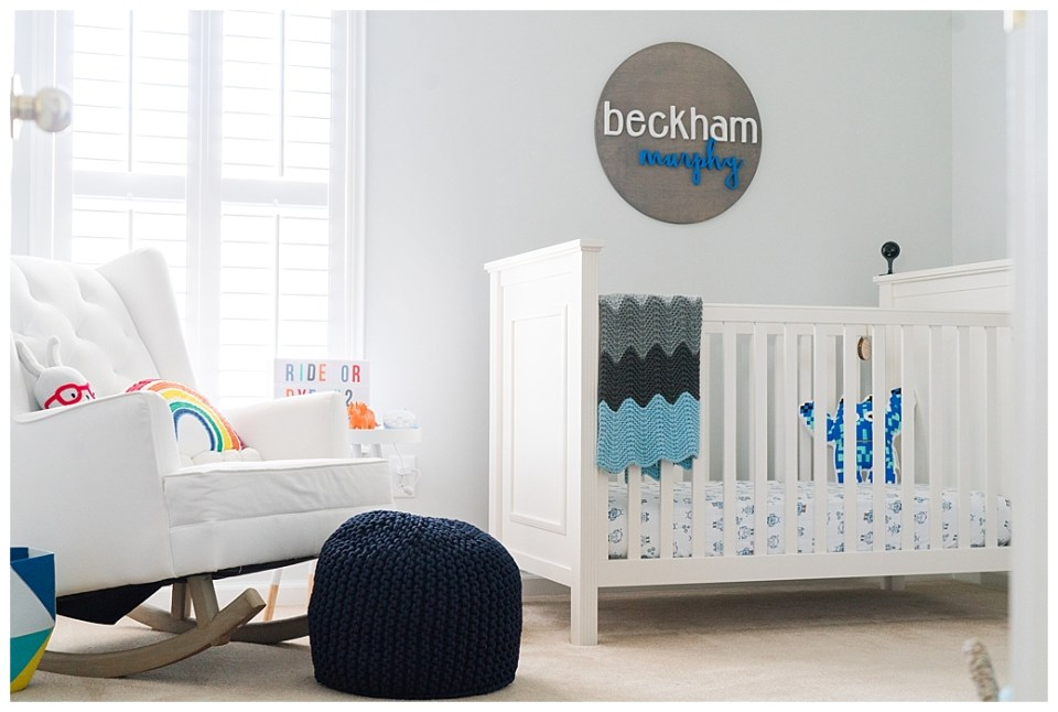 Bright, colorful, cheerful, baby boy nursery