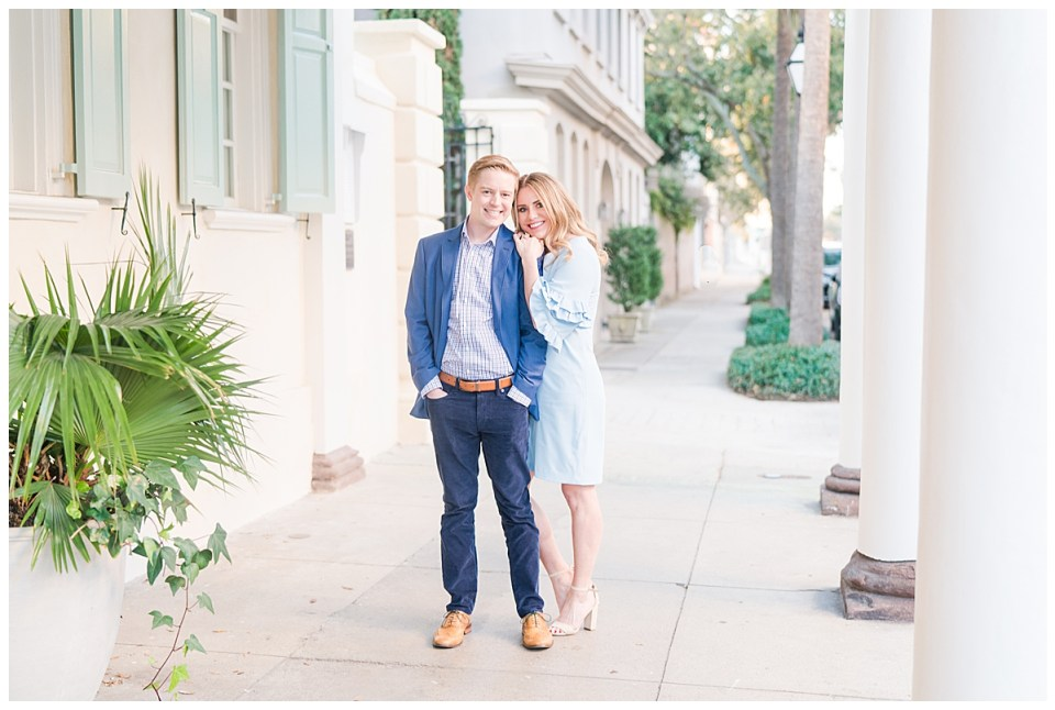 Glam Downtown Charleston Engagement