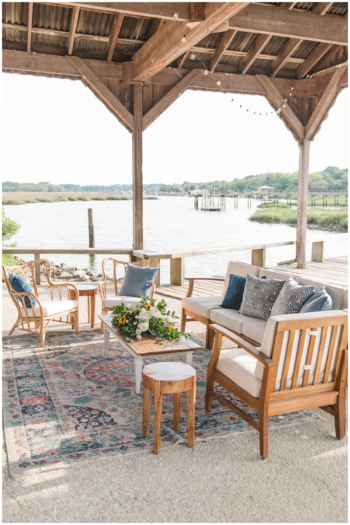 seating area for Boone Hall reception