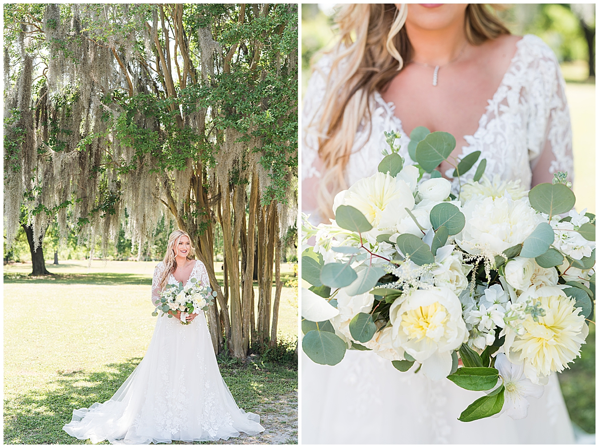 spring bridal portraits in Charleston SC