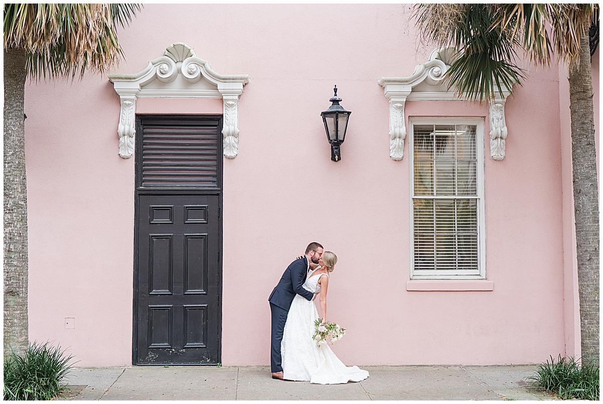 South Carolina wedding portraits along Rainbow Row