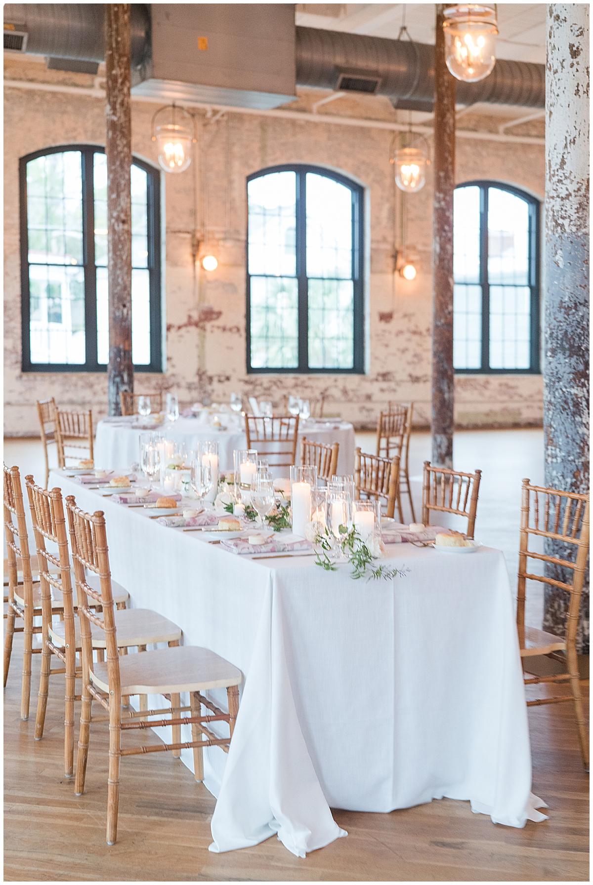 tablescape for Cedar Room Charleston wedding reception