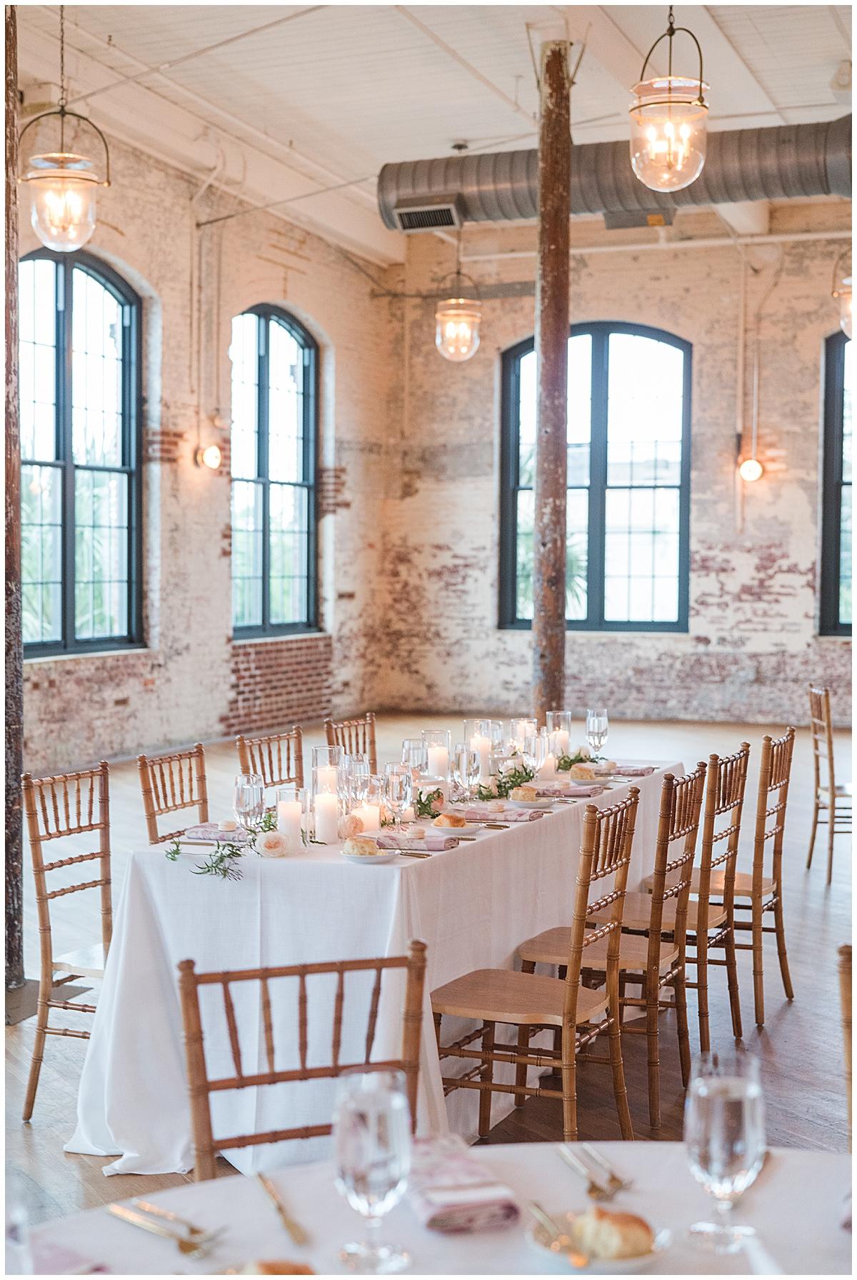 industrial wedding reception inspiration at Cedar Room