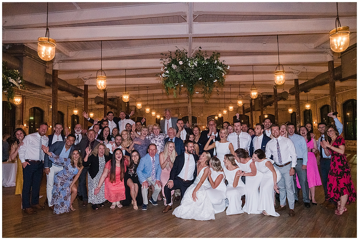 guests pose together during SC wedding reception