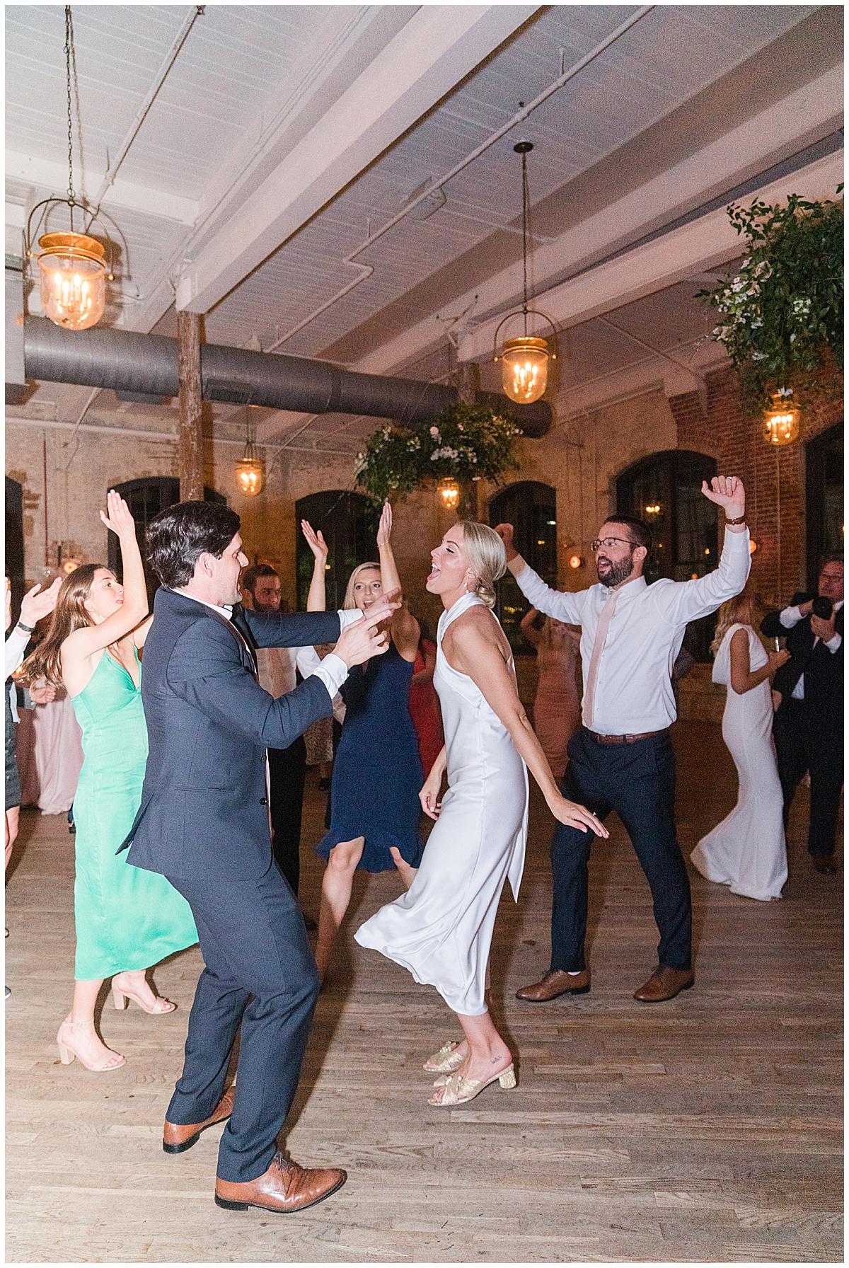 Charleston wedding reception dancing at Cedar Room
