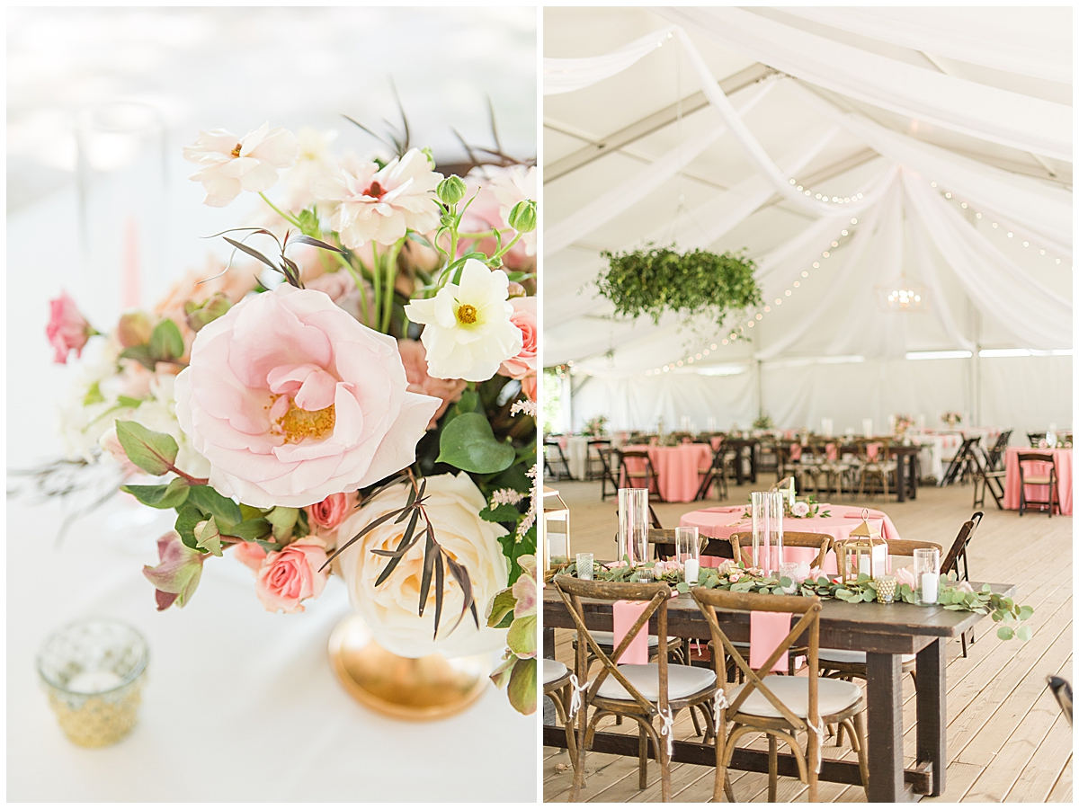 elegant spring Runnymeade Plantation Charleston wedding reception under tent