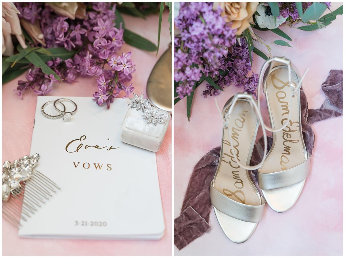 bride's details for spring Gibbes Museum wedding