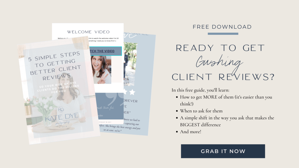 Free guide to get better client reviews