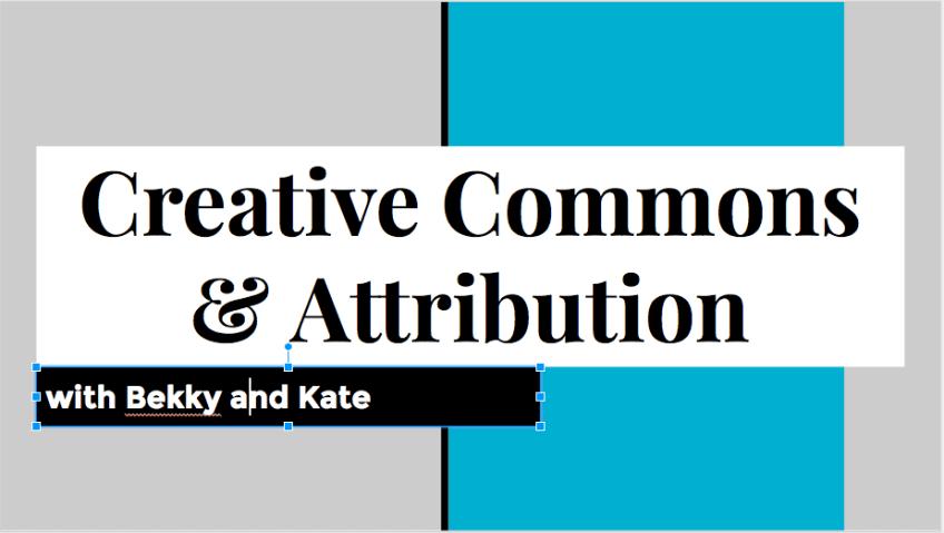 Creative Commons & Attribution