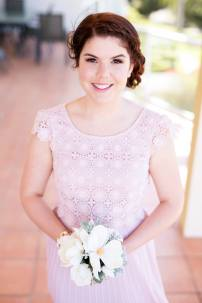 MUA: Magnifique Makeup Artistry. Photography: Life and Love Photography. One of Sarah's lovely bridesmaids.