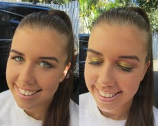 Race day makeup: Golden smokey eyes