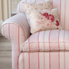 Sofa Sets Uk Mini Set Online Pink Ticking With Roses And Sprig Cushions - Kate Forman