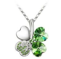 Green Clover Necklace Pendant - Giveaway