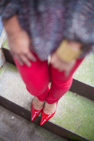 Asian, Fashion, Kate Greer, Red Jeans