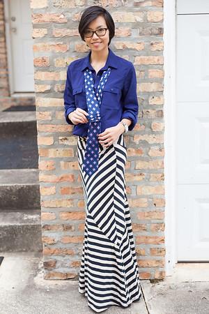 Kate Style Petite l Striped Maxi