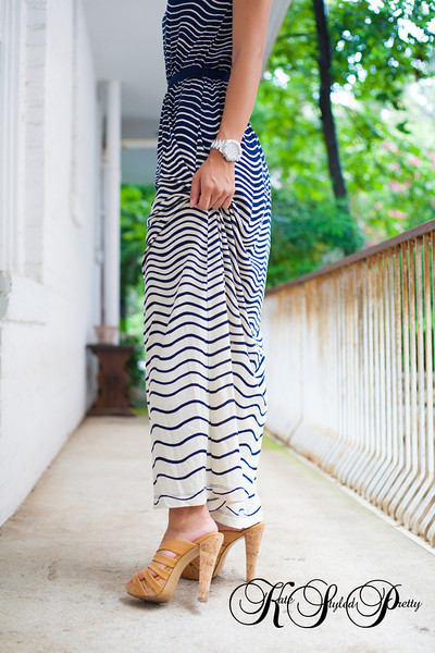 Ann Taylor Loft, Maxi Dress, Nine West Heels, Kate Styled Pretty, Kate Greer