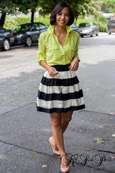 Kate Styled Pretty, EShakti, Old Navy, Neon