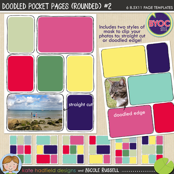 Doodled Pocket Pages (Rounded) #2