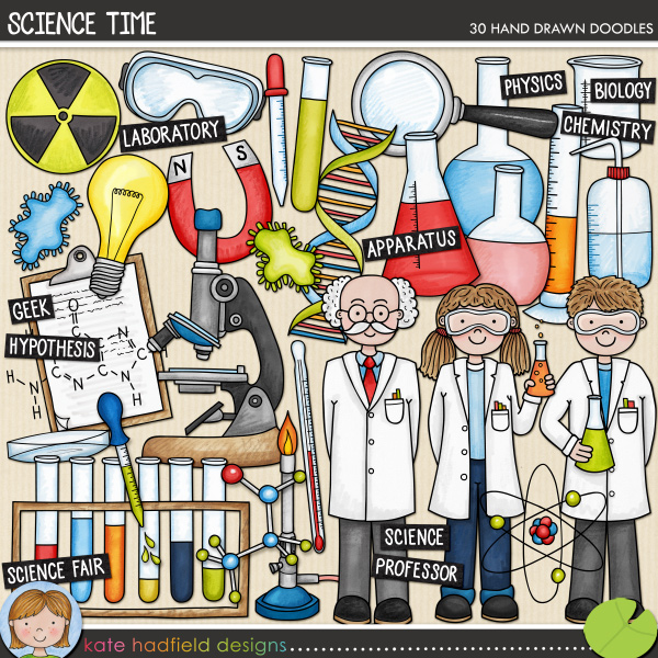 Science Time doodles by Kate Hadfield