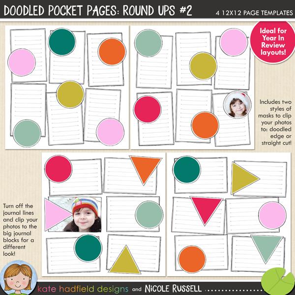 Doodled Pocket Pages: Round Ups #2