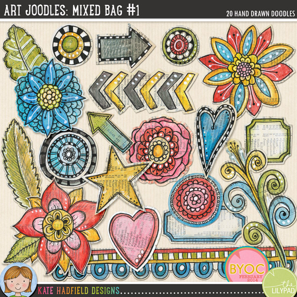 Art Joodles: Mixed Bag #1 by Kate Hadfield