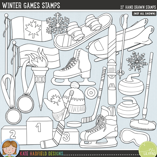 Winter Games Stamps by Kate Hadfield