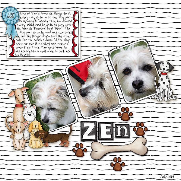 Digital scrapbook layout created with the FREE digital scrapbooking template from Kate Hadfield Designs! | layout by Christa