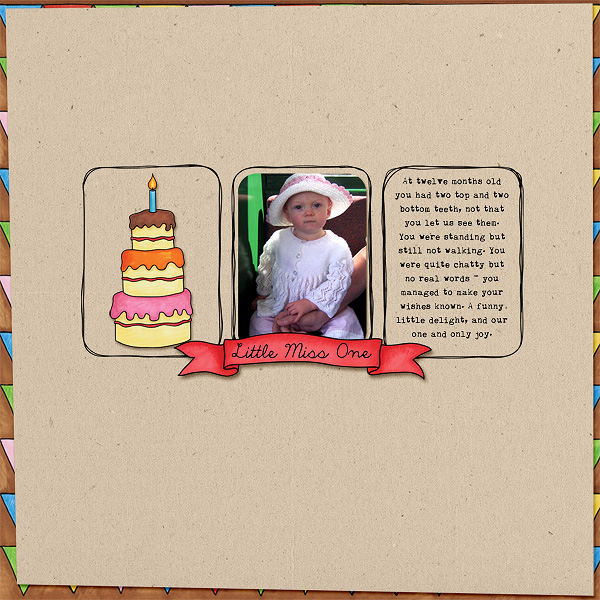 Digital scrapbook layout created with the FREE digital scrapbooking template from Kate Hadfield Designs! | layout by Edeena