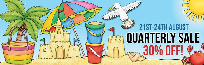 Kate Hadfield Designs Quarterly Sale August 2105