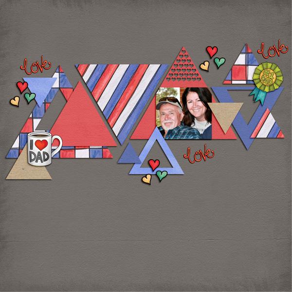 Kate Hadfield Designs creative team My Favourite Valentines layout by Kirstie