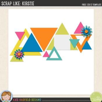 FREE Digital Scrapbooking template | Scrap Like Kirstie