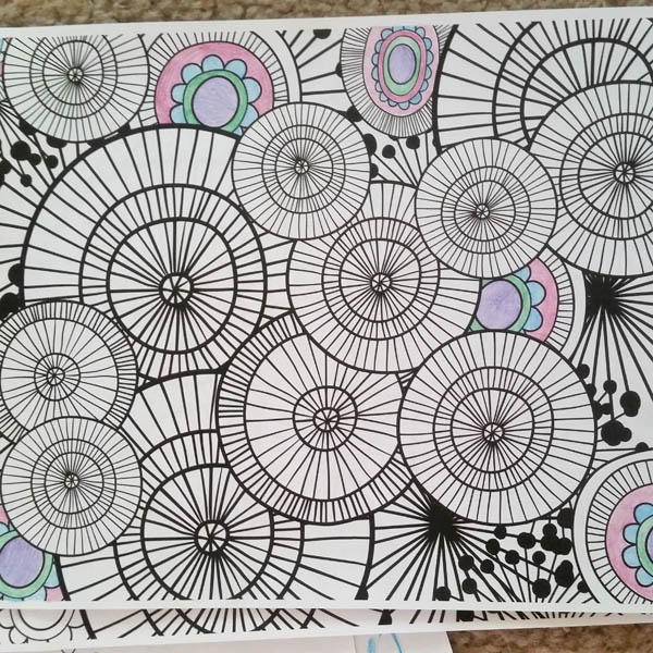 abstract colouring pages