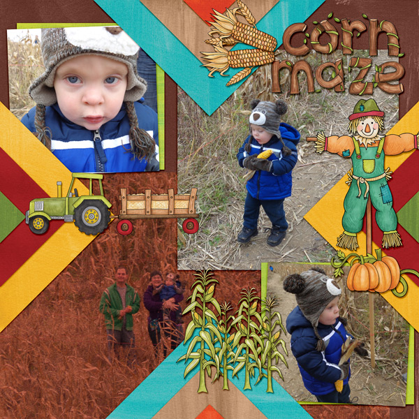 "Kate Hadfield Designs Creative Team ""Autumn & Fall"" Favourites: Digital scrapbook layout by Amy"