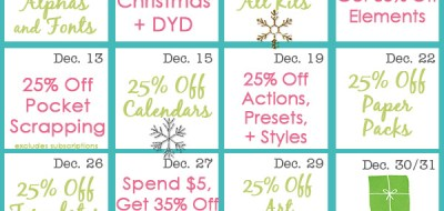 December Deal Days from Kate Hadfield Designs