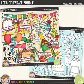 Let's Celebrate Bundle by Kate Hadfield Designs