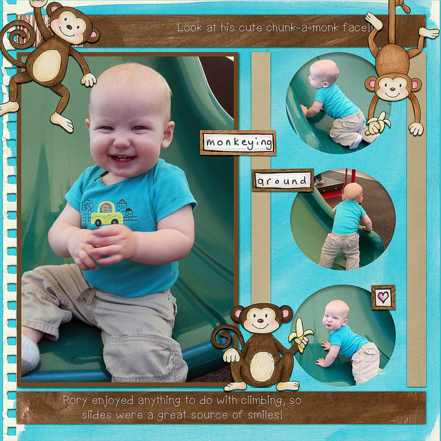 Digital scrapbook layout created with the FREE digital scrapbooking template from Kate Hadfield Designs! | layout by CT member Kristina