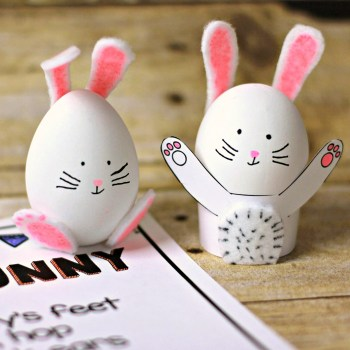 Easy Easter craft for kids | Eggheads revisited!