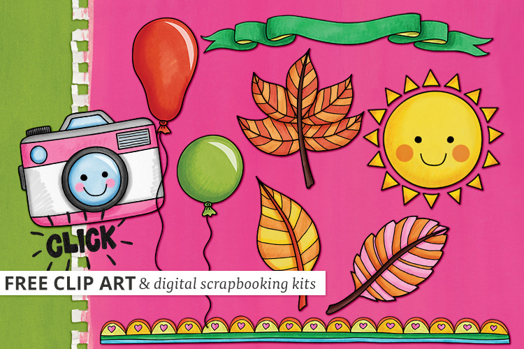 Kate Hadfield Designs - Hand-drawn Digital Scrapbooking Kits and ...