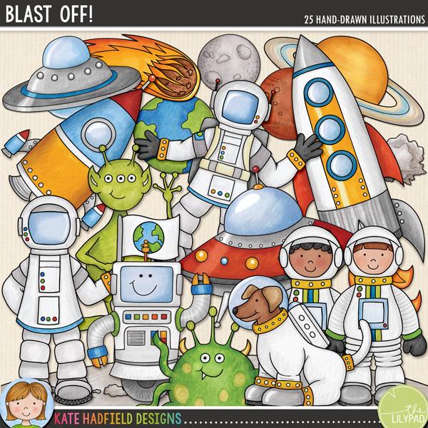 Blast Off digital scrapbooking kit from Kate Hadfield Designs