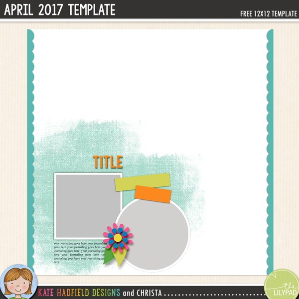 Free digital scrapbooking template / scrapbook sketch from Kate Hadfield Designs. This template is perfect for adding an artsy touch to your pages with the painted mask and scallop trims! Download contains PSD, Tiff, png and .page file formats.