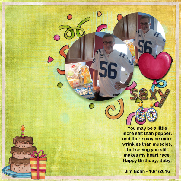 AmyDigital scrapbook layout created with the FREE digital scrapbooking template from Kate Hadfield Designs! | layout by CT member Jenni