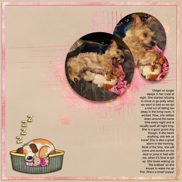 AmyDigital scrapbook layout created with the FREE digital scrapbooking template from Kate Hadfield Designs! | layout by CT member Keela