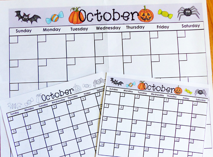 Calendar sheets by Smart 2 Heart Creations | illustrations by Kate Hadfield Designs